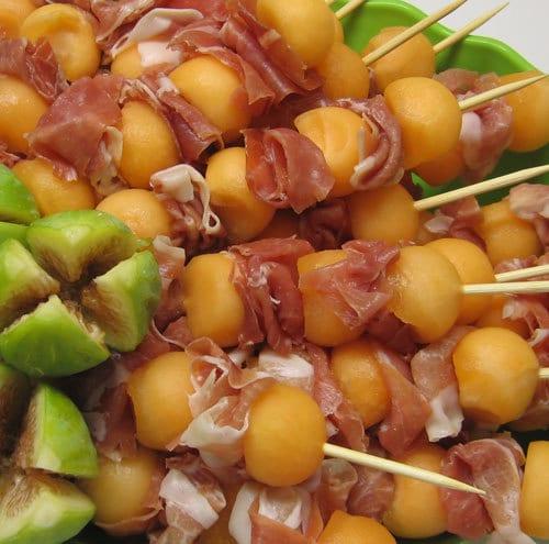 ricetta estiva prosciutto e melone spiedino