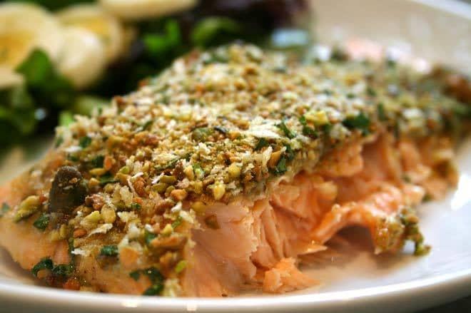 Salmone in crosta di pistacchio – ricetta