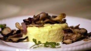 Flan funghi e grana
