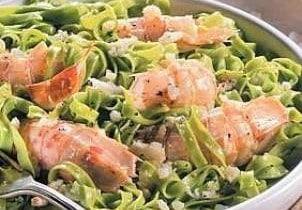 tagliolini spinaci e cicale