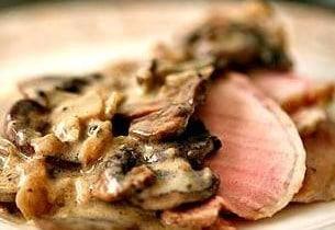 roast beef crema funghi patate ricetta