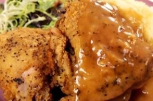 pollo croccante in salsa gravy