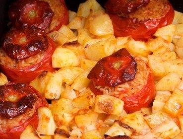 ricetta pomodori ripieni di riso al forno con patate