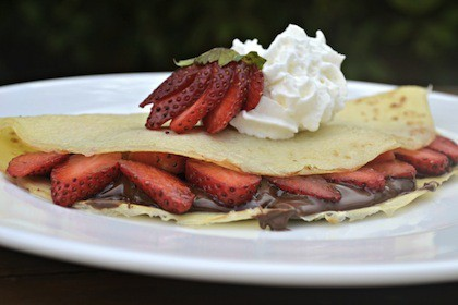 ricetta crepes nutella fragole