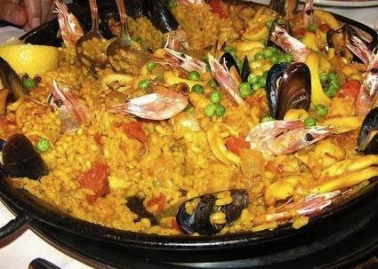 ricetta paella valenciana pollo pesce