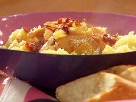 ricetta pollo al vino con purè di patate