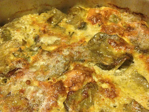 carciofi al forno ricetta