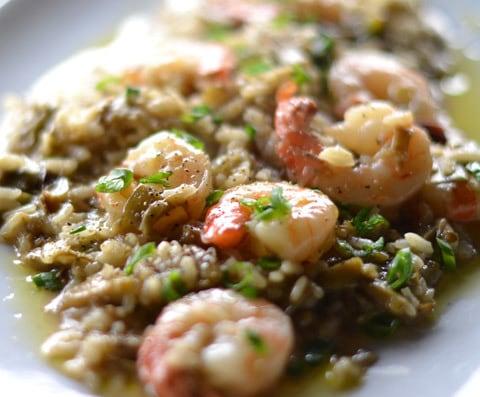 come preparare il risotto carciofi e gamberi ricetta