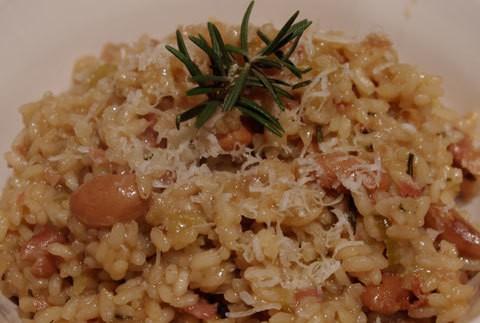 ricetta risotto borlotti e pancetta