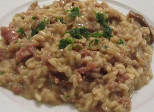 risotto salsiccia norcia e funghi porcini ricetta
