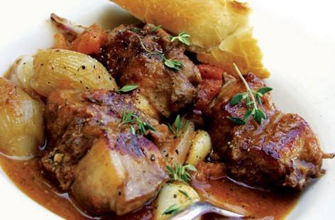 coniglio marinato funghi e pancetta ricetta