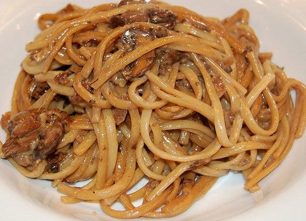 linguine funghi e vongole ricetta