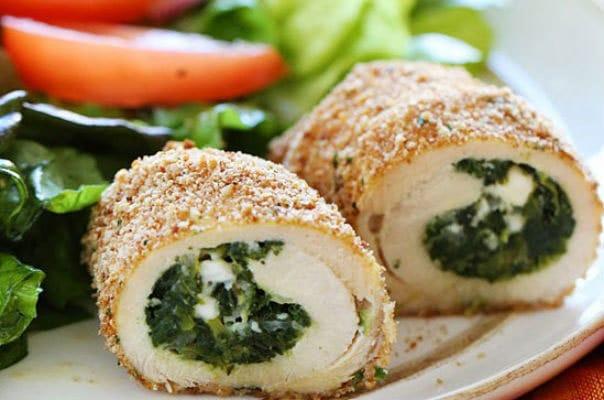 ricetta involtini di pollo spinaci e mozzarella