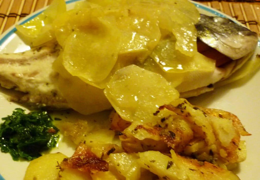 orata in crosta di patate ricetta estiva