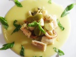 insalata di polpo ricetta con crema di patate
