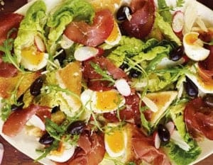 insalata al radicchio e bresaola ricetta