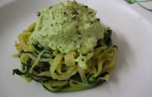 ricetta zucchine e avocado