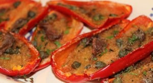 ricetta peperoni al forno con le alici